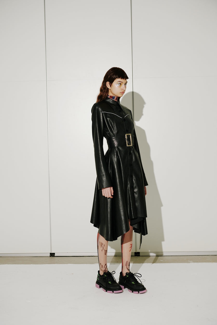 ASYMETRIC LEATHER DRESS