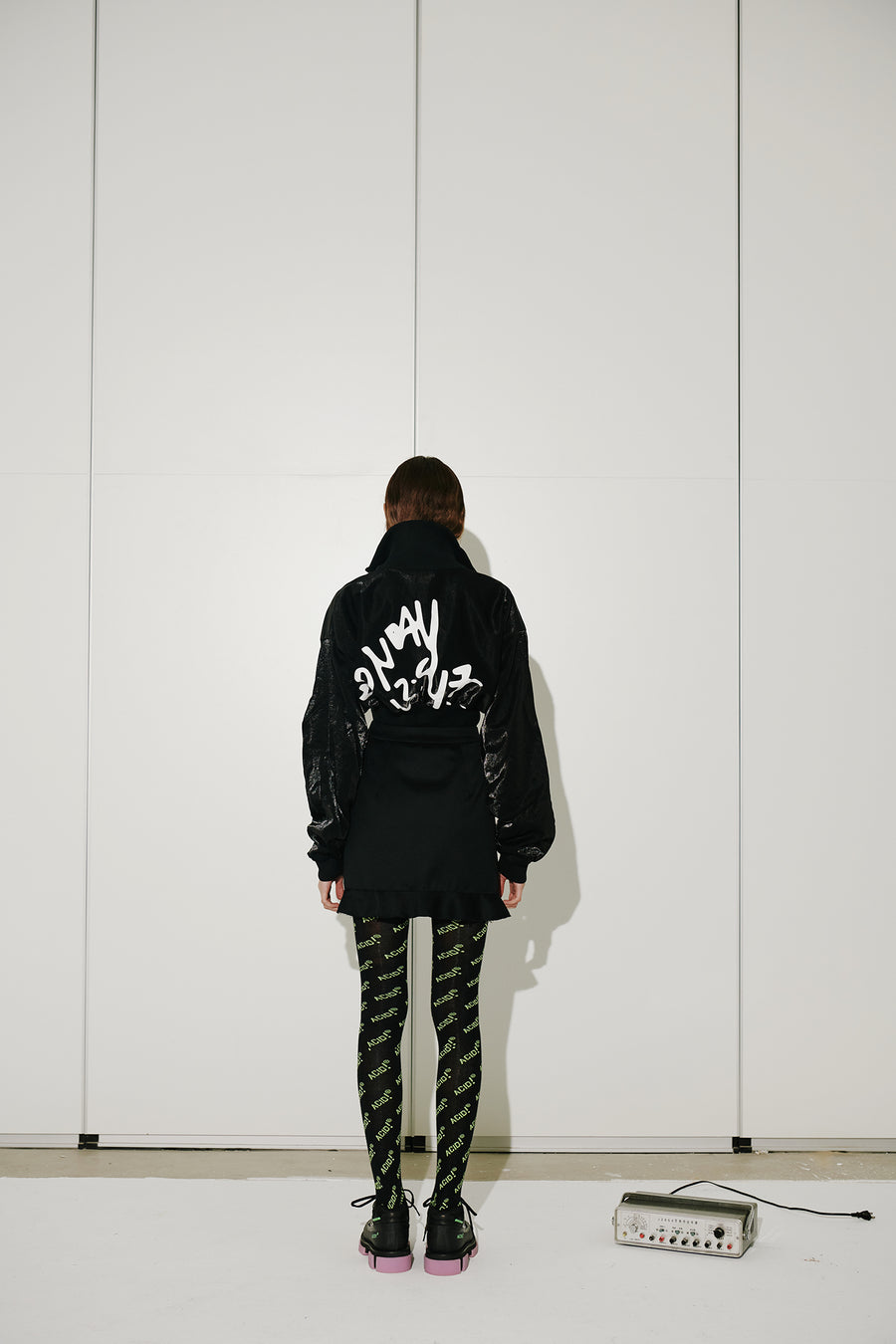 GRAFFITI CROPPED BASEBALL JACKET