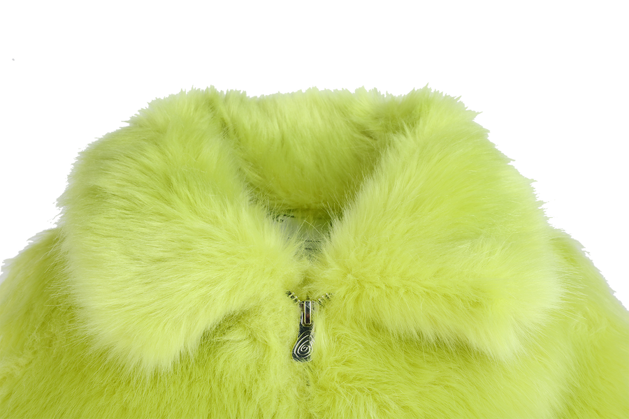 REFLECTIVE FAUX FUR COAT