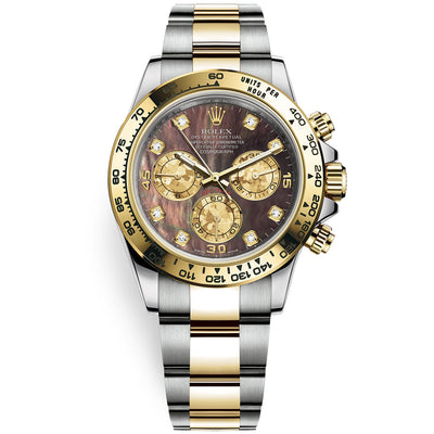 Rolex Daytona 40mm 116503 Black Mother Of Pearl Diamond Dial