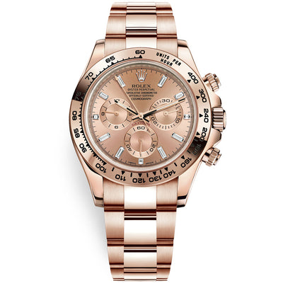 Rolex Daytona 40mm 116505 Pink Baguette Diamond Dial