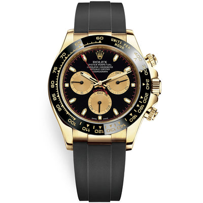 "Rolex Daytona 40mm Oyster Flex 116518LN ""Paul Newman"" Black Dial"