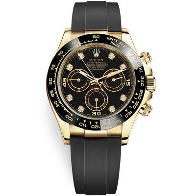 Rolex Daytona 40mm Oyster Flex 116518LN Black Diamond Dial