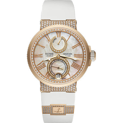 Ulysse Nardin Marine 39mm 1182-160C-3C/490 Mother Of Pearl Dial