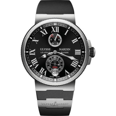 Ulysse Nardin Marine Chronometer Manufacture 43mm 1183-126-3/42 Black Dial