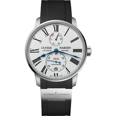 Ulysse Nardin Marine Torpilleur 42mm 1183-310-3/40 White Lacquered Dial
