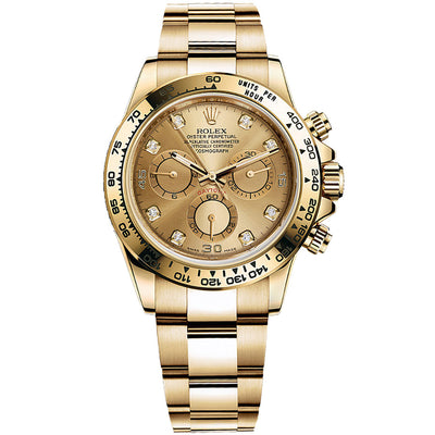 Rolex Daytona 40mm 116508 Champagne Diamond Dial