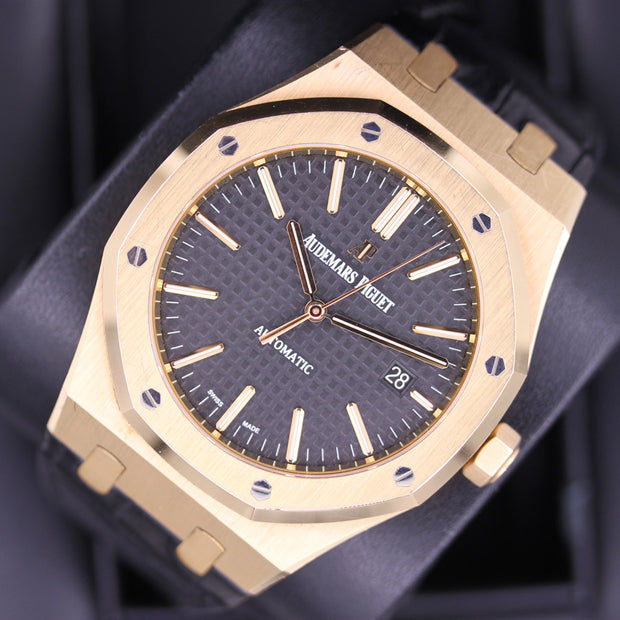 Audemars Piguet Royal Oak 41mm 15400OR Black Dial Pre-Owned