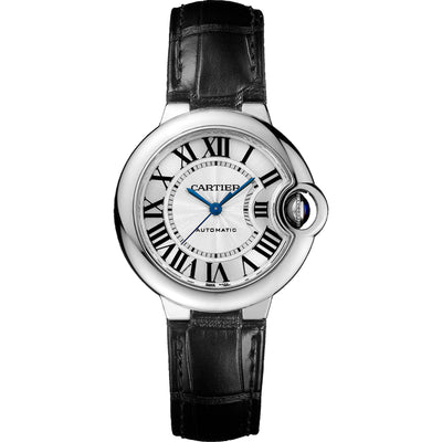 Cartier Ballon Bleu De Cartier 33mm W6920085 Silvered Opaline Dial