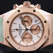Audemars Piguet Royal Oak Chronograph 38mm 26315OR White Dial