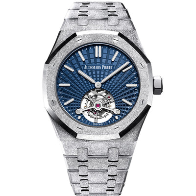Audemars Piguet Limited Edition Frosted Royal Oak Tourbillon Extra-Thin 41mm 26520BC Blue Dial