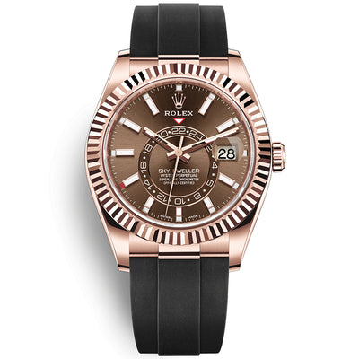 Rolex Sky-Dweller 42mm Oyster Flex 326235 Chocolate Dial