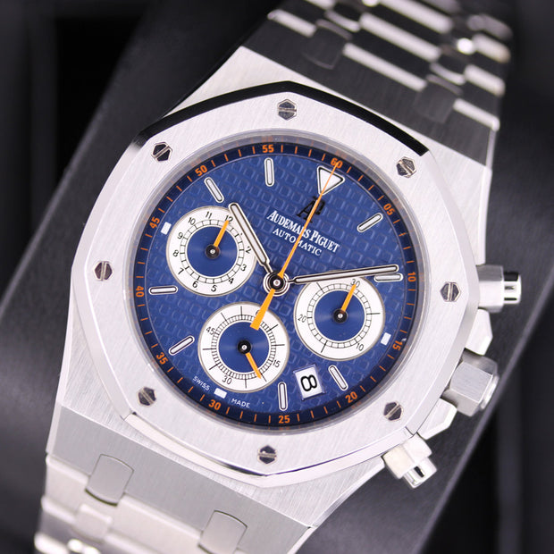 "Audemars Piguet Royal Oak Chronograph ""Kasparov"" 39mm 26300ST Blue Dial Pre-Owned"