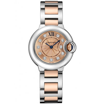 Cartier Ballon Bleu De Cartier 28mm Quartz WE902052 Pink Gold Dial