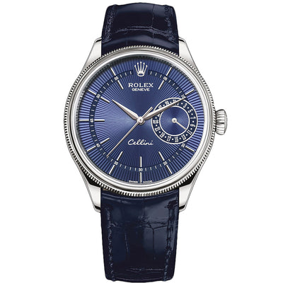 Rolex Cellini Date 39mm 50519 Blue Dial