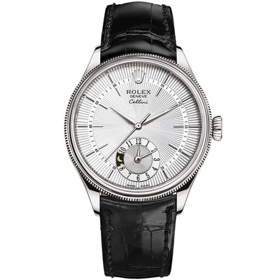 Rolex Cellini Dual Time 39mm 50529 White Dial