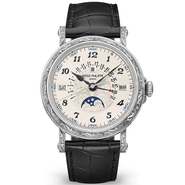 Patek Philippe Grand Complications Perpetual Calendar Moon Phase 38mm 5160G-500G Silver Dial