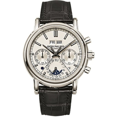 Patek Philippe Grand Complications Split-Seconds Chronograph Perpetual Calendar 40mm 5204P-010 Silver Dial