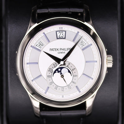 Patek Philippe Annual Calendar Complication 40mm 5205G-001 Rhodium Dial Pre-Owned