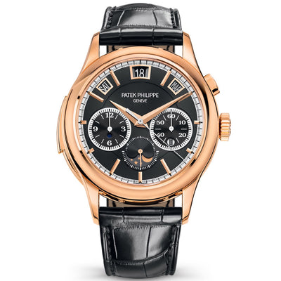 Patek Philippe Grand Complications Minute Repeater / Perpetual Calendar / Chronograph 42mm 5208R Black Dial