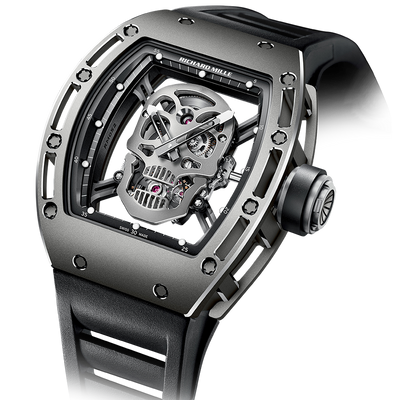Richard Mille Limited Edition RM052 Skull Titanium Tourbillon 50mm Overworked Dial