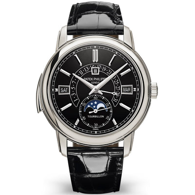 Patek Philippe Grand Complications Tourbillon Perpetual Calendar / Minute Repeater 40mm 5316P Black Enamel Dial