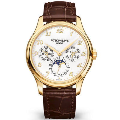 Patek Philippe Extra-Thin Grand Complications Perpetual Calendar Moon Phase 39mm 5327J White Dial - First Class Timepieces