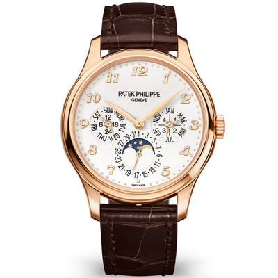 Patek Philippe Extra-Thin Grand Complications Perpetual Calendar Moon Phase 39mm 5327R White Dial - First Class Timepieces