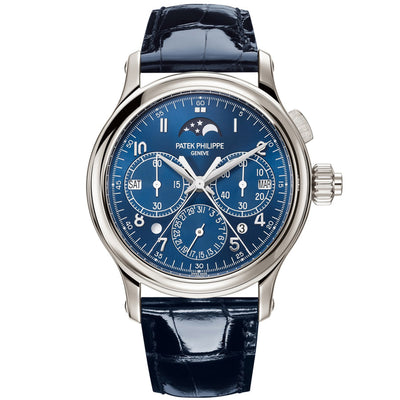 Patek Philippe Grand Complications Split-Seconds Monopusher Chronograph Perpetual Calendar 38mm 5372P Blue Dial