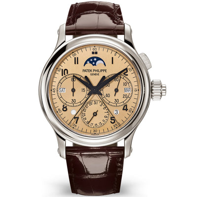 Patek Philippe Grand Complications Split-Seconds Monopusher Chronograph Perpetual Calendar 38mm 5372P Rose Gold Dial