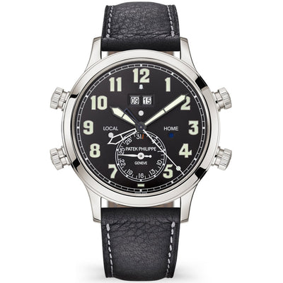 Patek Philippe Calatrava Pilot Travel Time Complication 42mm 5520P Black Dial