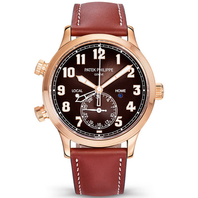 Patek Philippe Calatrava Pilot Travel Time Complication 42mm 5524R-001 Brown Dial