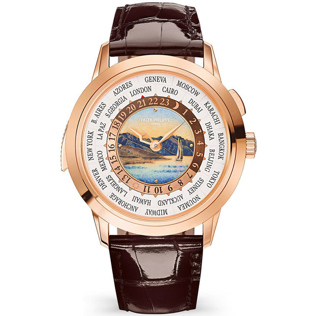 Patek Philippe World Time Complication 40mm 5531R Cloisonné Enamel Center Lavaux Landscape Dial