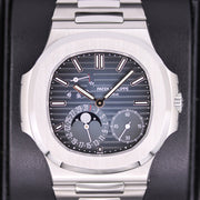 Patek Philippe Nautilus Moon Phases 40mm 5712/1A Blue Dial Pre-Owned
