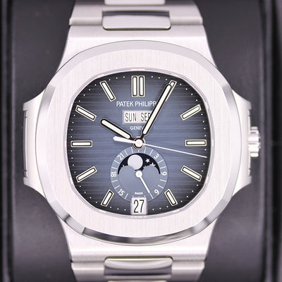 Patek Philippe Nautilus Annual Calendar Moon Phase 40mm 5726-1A-014 Blue Dial Pre-Owned