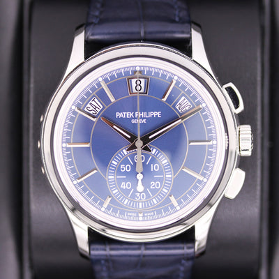 Patek Philippe Annual Calendar Chronograph Complication 42mm 5905P Blue Dial Pre-Owned