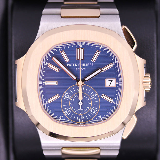 Patek Philippe Nautilus Chronograph 40mm 5980/1AR-001 Blue Dial Pre-Owned