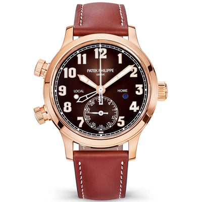 Patek Philippe Calatrava Pilot Travel Time Complication 37mm 7234R-001 Brown Dial