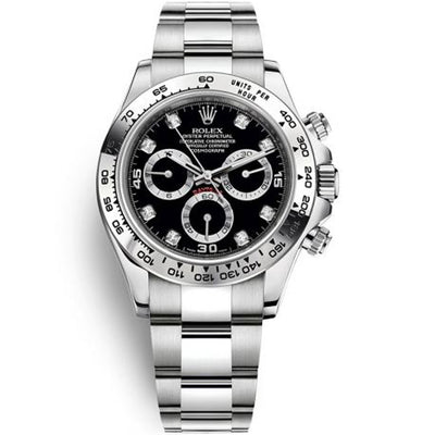 Rolex Daytona 40mm 116509 White Gold Black Diamond Dial