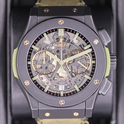 "Hublot Special Edition Aerofusion ""Hope For Our Warriors"" 45mm 525.CI.0180.NR.HOW15 Overworked Dial Pre-Owned"