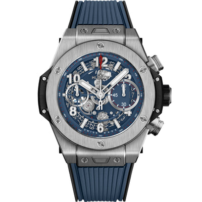 Hublot Big Bang Unico Chronograph 42mm 441.NX.5179.RX Overworked Blue Dial