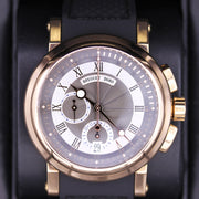 Breguet Marine Chronograph 42mm 5827BR/Z2/5ZU Silver / Black Dial Pre-Owned