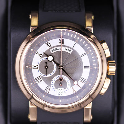 Breguet Marine Chronograph 42mm 5827BR/Z2/5ZU Silver/Black Dial Pre-Owned