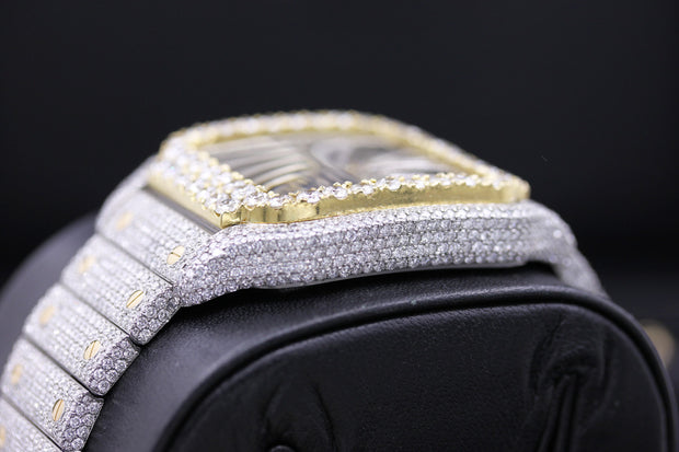 Cartier Tank MC Custom Diamond Setting 44mm WHSA0007 Overworked Diamond Dial Pre-Owned