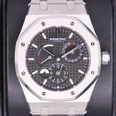 Audemars Piguet Royal Oak GMT Dual Time 39mm 26120ST Black Dial Pre-Owned