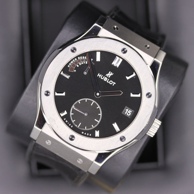 Hublot Classic Fusion 45mm 516.NX.1470.LR Black Dial Pre-Owned