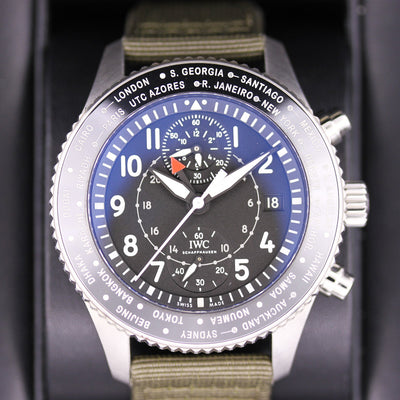 IWC Pilot Chronograph 46mm Unworn IW395001 Black Dial Pre-Owned