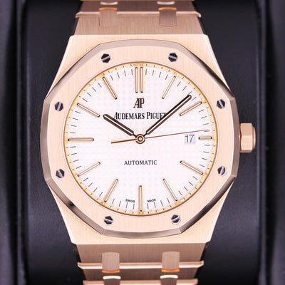 Audemars Piguet Royal Oak 41mm 15400OR White Dial Pre-Owned