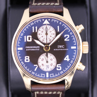 IWC Pilot's Chronograph Edition Antoine De Saint Exupery IW387805 Brown Dial Pre-Owned