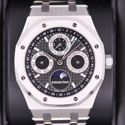Audemars Piguet Limited Edition Royal Oak Perpetual Calendar 26597PT Black Dial Pre-Owned